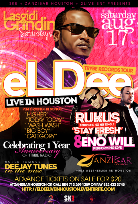eLDee + Rukus Live in Houston, TX, USA - AUG 17, 2013