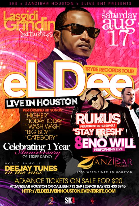 eLDee + Rukus Live in Houston, TX, USA - AUG 17, 2013